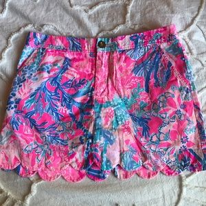 lilly pulitzer buttercup skort